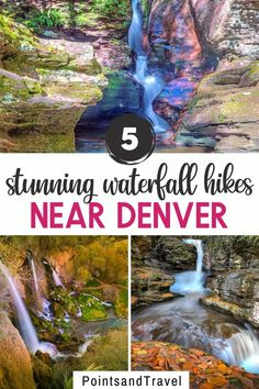 5 Stunning Waterfall Hikes Near Denver. Check out these waterfall hikes near Denver. You will be captivated at the wonderful opportunities for hiking near Denver that has trails with waterfalls. Denver Waterfall Hikes | Denver Colorado | Waterfall Near Denver | Denver Travel | Denver Hikes Usa Travel Guide, Travel Usa, Travel Guides, Travel Tips, Hikes Near Denver, Denver Colorado, Beautiful Places In Usa, Denver Travel, Waterfall Hikes