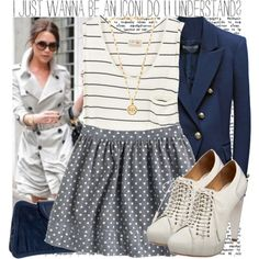 Stripes, polka dots and nautical. What's not to love? with my gold sperry's?