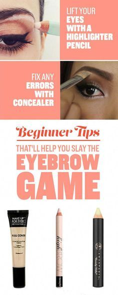 10 Tips For Beginners That'll Make Your Eyebrows Fleeker Than Fleek - Care - Skin care , beauty ideas and skin care tips I Liner, Winged Liner, Eyebrow Game, Eyebrow Tips, Eyebrow Shapes, Eye Shapes, Eyebrow Stencil, Brow Stencils, Threading Eyebrows