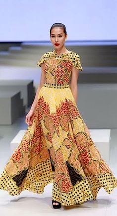 Indonesian designer Irma Lumiga during the Indonesia Fashion Week 2017 in Jakarta