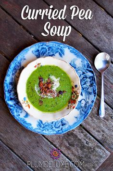 This vibrant curried pea soup will change the way you think about – and eat – peas. #peas #curry #recipe #soup