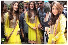 Kareena Kapoor Yellow Bollywood Replica Suit