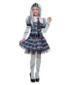 monster high frankie stein premium dress up - Clawdeen Wolf Halloween Costume