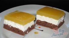 FANTA řezy s tvarohovou náplní Fanta, Czech Recipes, Cooking Recipes, Healthy Recipes, Mini Cheesecakes, Cottage Cheese, Sweet Recipes, Oreo, Caramel