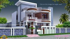 House Front Elevation Designs for Double Floor In India 2018 . House Front Elevation Designs for Double Floor In India 2018 . Kerala House Front Elevation Designs for Double Floor Best Modern House Design, Bungalow House Design, House Front Design, Small House Design, Modern House Plans, Indian Home Design, Kerala House Design, Front Elevation Designs, House Elevation