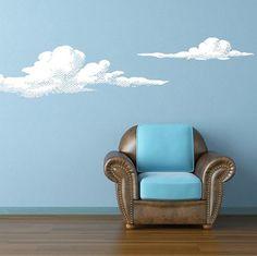 Wall Vinyl Sticker Decals Decor Art Bedroom Design Mural Set of 2 Cloud (z826) on Etsy, $33.06 CAD
