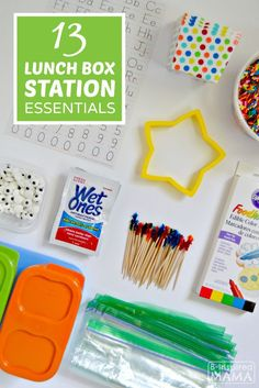 Our 13 Lunch Box Station Essentials - to make your kid's packed lunch more fun! - at B-Inspired Mama - Sponsored #WishIHadAWetOnes