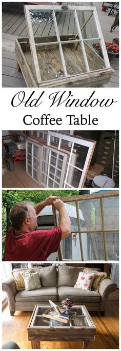 What can you do with an old window? Make a one of a kind rustic window table complete with storage! This DIY project is both thrifty and in style for the shabby chic look | Pallet Projects