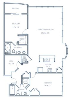Small low cost economical 2 bedroom 2 bath 1200 sq ft for Small condo floor plans