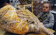Judy Scott (May 1, 1943 – March 15, 2005) was an internationally renowned American fiber artist. She was a fraternal twin to Joyce Scott, and she was born profoundly deaf, mute, and with Down syndrome.[2] She worked at the Creative Growth Art Center in Oakland, California.