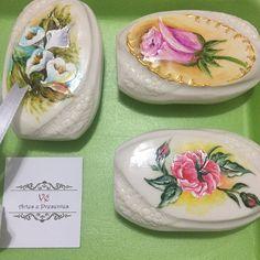 Sabonete pintado à mão lembrancinha                                                                                                                                                     Mais