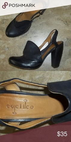 Coclico black leather heels Chunky black leather heel. Made in Spain these Quality black leather heels look great with jeans or just about anything you want to wear them with Coclico  Shoes Heels