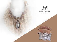 "Hippy Garden Showroom Masarykova 5  Necklace ""Rustica"" limited edition www.hippygarden.net  #fashion #brand #design #hippygarden #croatia #masarykova5 #necklace #belt #jewellery"