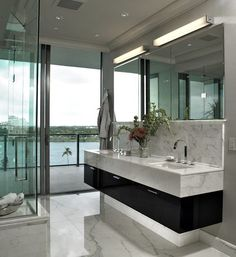 Contemporary Bath with a view!