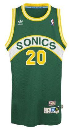 Gary Payton Seattle Supersonics NBA Hardwood Classics Adidas Throwback  Swingman Jersey. #basketball #jersey