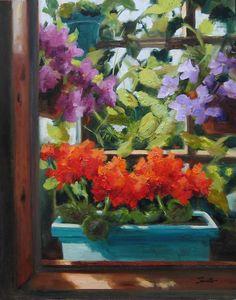 """""""The Sunroom"""" original fine art by Pat Fiorello"""