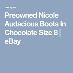 Preowned Nicole Audacious Boots In Chocolate Size 8  | eBay
