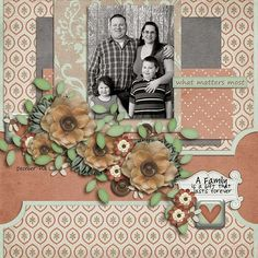Layout by Natalie using Important to Me Digital Scrapbooking Kit by Simple Girl Scraps