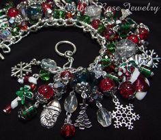 Christmas Chunky Charm & Bead Bracelet