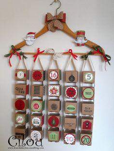Magnifique calendrier de Cécile Ortiz - il ne vous reste plus qu'à remplir les boîtes ;) #stampinup