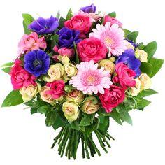Ingénue !  Camaïeu de rose et violet mystérieux, nos artisans fleuristes ont composé ce joli bouquet en hommage à la femme fleur dont il a la beauté et la sensualité. Composition troublante à offrir tendrement.