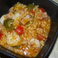 Jambalaya with Shrimp and Ham - A healthier take on a New Orleans classic!