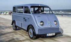 DKW elétrico de 1956 tem apenas duas unidades conhecidas - A DKW, uma das quatro marcas que deram origem a Audi, criou em 1956 uma van pequena de transporte de carga chamada Schnellaster Kastenwagen. Dela foram produzidas 100 unidades com motor elétrico.