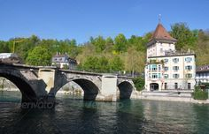 Bern, Switzerland ...  aare, ancient, arc, arch, architecture, bern, block, brick, canal, capital, center, city, europe, european, historical, house, keywords, landmark, mediaeval, medieval, old, panorama, panoramic, paved, pavement, retro, river, riverside, roof, row, stone, street, swiss, switzerland, tile, tiled, top, town, traditional, view, vintage