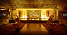 Tulips event - Best Pakistani wedding stage decoration flowering for Mehndi walima barat stages décor services provider in Lahore Pakistan.