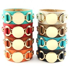 Blank Monogram Leather Cuff Bracelet for Women Men Personalized Monogram Customized Leather Cuff Bracelet for Women