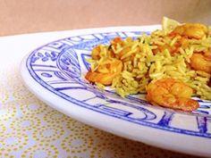 Prawns with rice