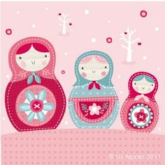 cookie inspiration: Russian dolls [The Ink House]