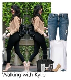 """Kylie"" by roquebae ❤ liked on Polyvore featuring Frame Denim, STELLA McCARTNEY, Givenchy, Casetify, LORAC and Jimmy Choo"