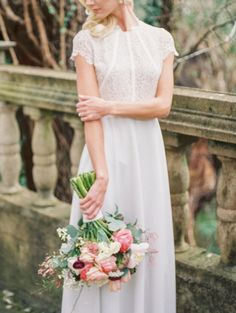 Lacey lovely; http://www.stylemepretty.com/texas-weddings/austin/2015/05/19/romantic-garden-party-wedding-inspiration/ | Photography: Kate Anfinson - http://www.kateanfinson.com/