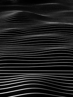 This piece made the illusion of there being hills by creating separations in the black with the negative space. fiore-rosso: the grid / daniel heydecke. Abstract Pattern, Pattern Art, Pattern Design, Linear Pattern, Wave Pattern, Op Art, 3d Modellierung, Pattern Texture, Motifs Textiles