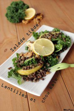 mlle prune: Salade tiède de lentilles et chou kale