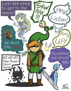 Link and his partners #LegendofZelda