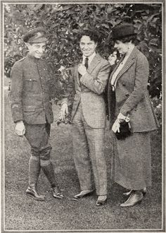 Charlie with Canadian soldier Harold Peat & his wife, 1918