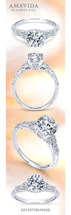 Chelsea Platinum Round Straight Engagement Ring social image