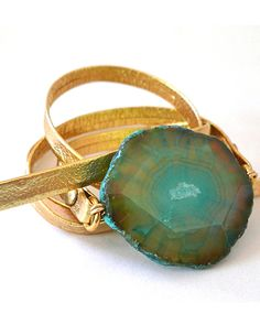 The Leather Wrap Bracelet by JewelMint.com, $40.00