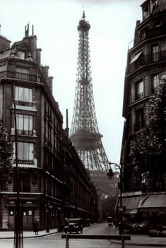 Eiffel Likes to Be Lacy in The Quiet of the Morning.   Vintage Paris.