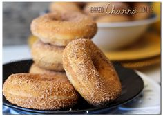 Baked Churro Donuts are an easy hoemade donut recipe. Coated in cinnamon & sugar they taste just like the churros you get at Disneyland. Delicious!