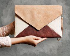 "Clutch bag ""Letter Medium Tricolor"""