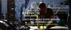 Reunion Park party! Every 3rd Saturday, come enjoy music, food trucks, and more!