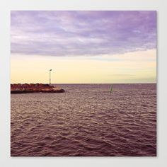 HARBOUR Stretched Canvas by lilla värsting - $85.00