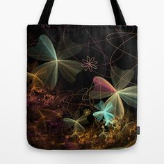Fractal Design Flower Tote Bag by Fine2art - $22.00
