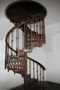 I like this because you get the traditional spiral staircase look without the fall through danger