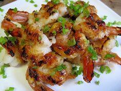 SCD Ginger & Honey Shrimp (*Use honey as sweetener, fresh garlic & omit sake...)