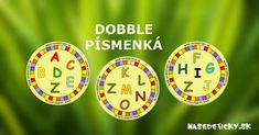 DOBBLE - písmenká - abeceda Homemade Toys, Special Needs, Special Education, Clock, Letters, Teaching, Articles, Games, Manualidades