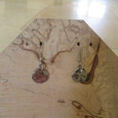 Boucles d'oreilles fantaisie métal argenté